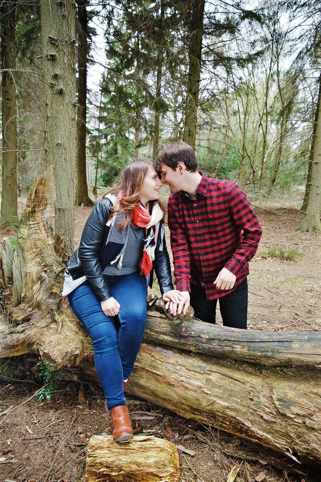 Engagement Session in St Leonards Forest in Horsham