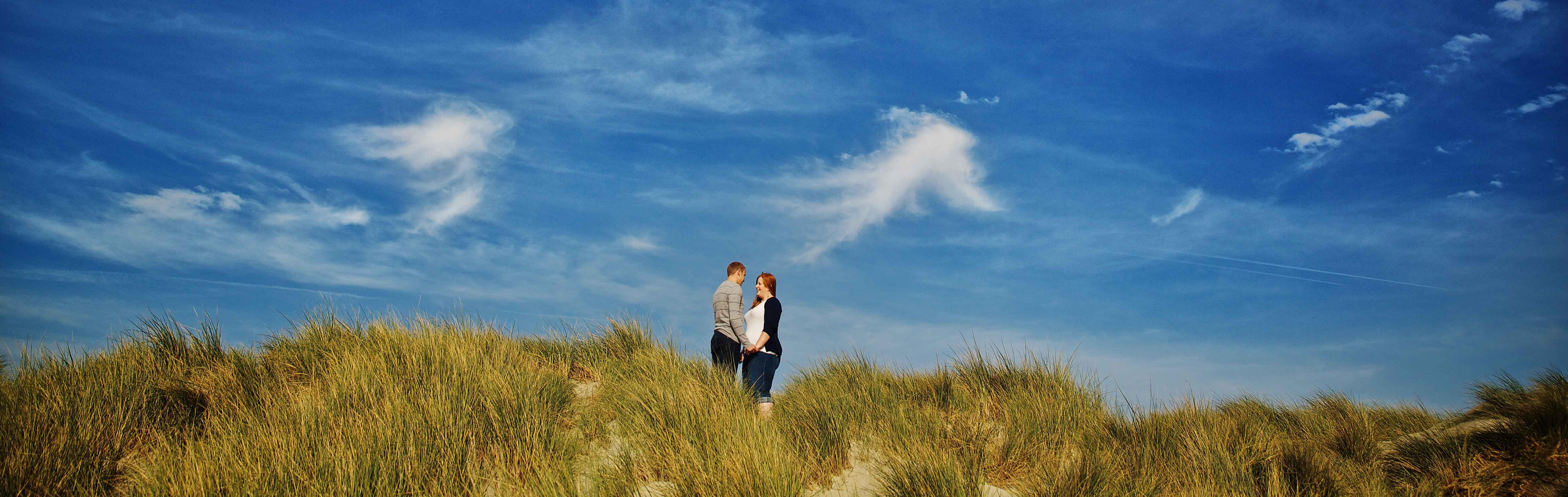 engagement session at west wittering beach