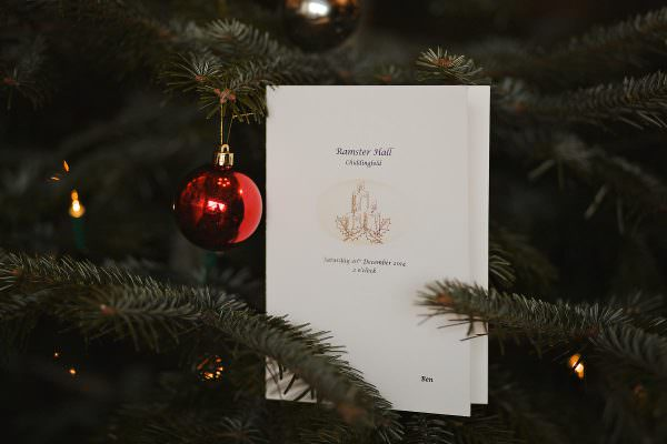 Ramster Hall christmas wedding