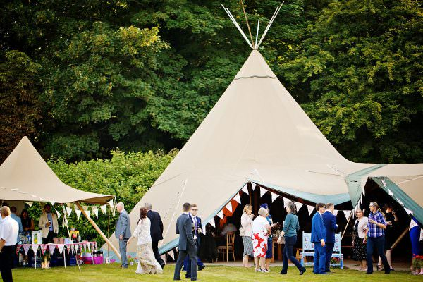 tipis wedding at houghton lodge stockbridge