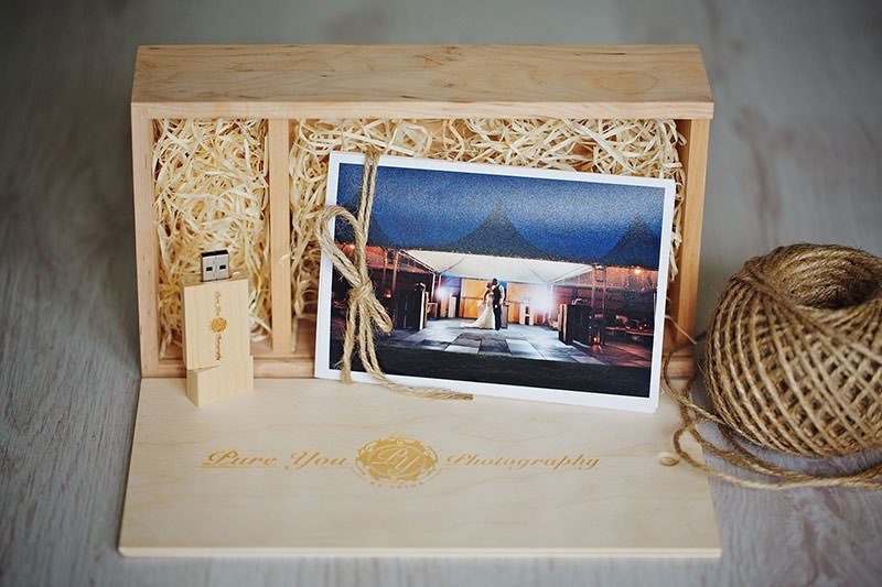 Wedding presentation box chichester wedding photographer